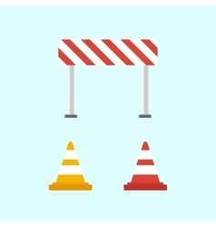 Warning signs Traffic cone vector