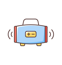 wireless loudspeaker rgb color icon vector image
