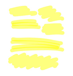 yellow highlighter collection vector image