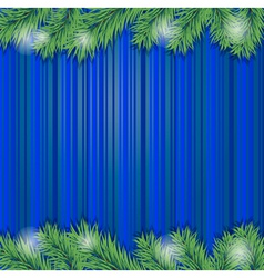 background with christmas tree branch vector image vector image