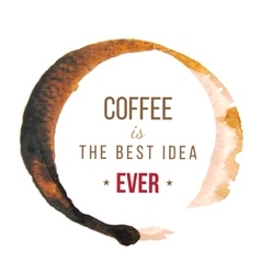 Coffee stains with type design vector image