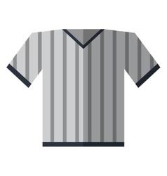 gray jersey referee american football vector image