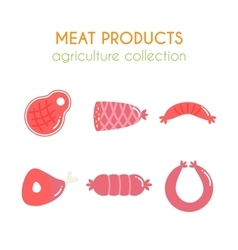meat products Sausages and vector image