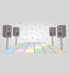space for dance party vector image