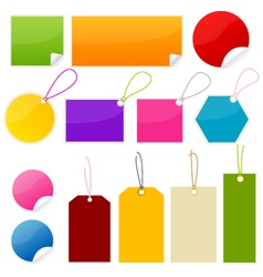 colorful tags and stickers vector image