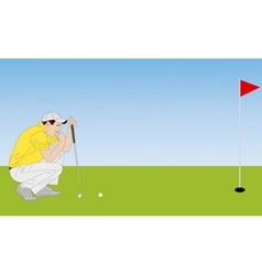 golf player 4 vector image vector image