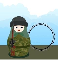 Matryoshka sniper vector image vector image