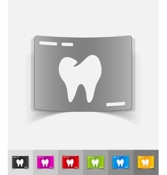 realistic design element picture tooth vector image vector image