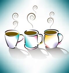 3 Coffee Cups vector image vector image