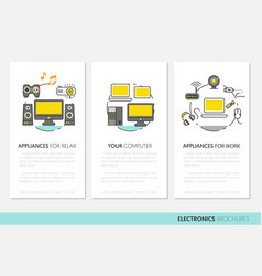 electronics technology business brochure template vector image vector image