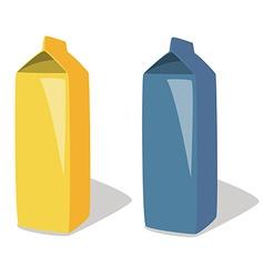 Milk package vector image
