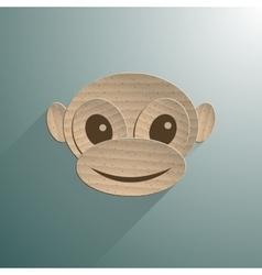 Little baby monkey vector