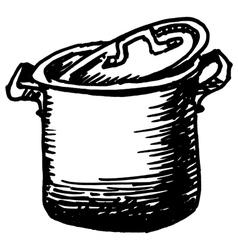 saucepan vector image
