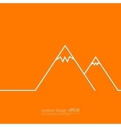 a linear mountain vector image