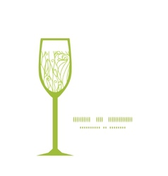 Abstract swirls texture wine glass silhouette vector