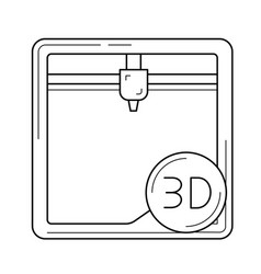 additing manufacturing line icon vector image
