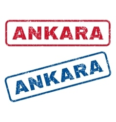 Ankara Rubber Stamps vector image