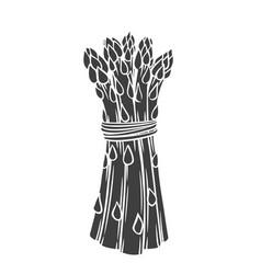 Asparagus glyph icon vector