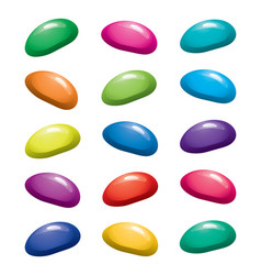 assortment of colorful fruit gelatin jelly beans vector image