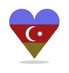 azerbijan flag with heart vector image