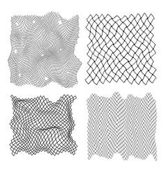 black fisherman rope set decor element vector image