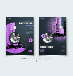 Brochure design corporate business report cover vector