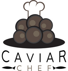 caviar design template with chef hat vector image