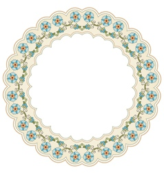 Circular floral background one vector