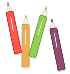 colorful pencils or highlighters for drawing art vector image