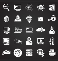 computer and internet technologies set on black vector image