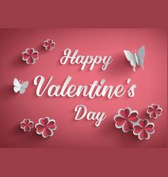 Concept of happy valentine day vector