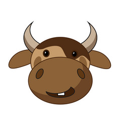 Cow head sketch icon isolated on white vector