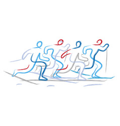 Cross country race vector