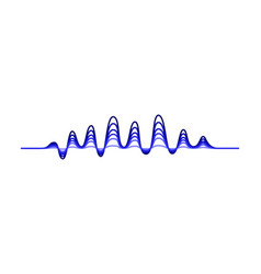 design of music wave blue wavy lines vector image