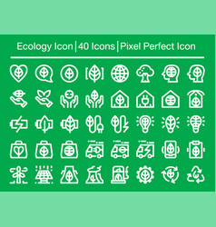 Ecology line icon vector
