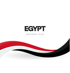 egypt flag wavy ribbon with colors egyptian vector image