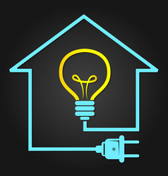 Electricity in house symbol vector