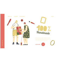 female characters needlework dressmaking hobby vector image