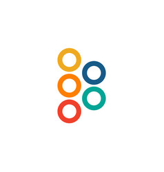 Five infographic circles logo colorful design vector