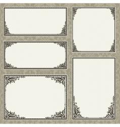 floral frame set vector image