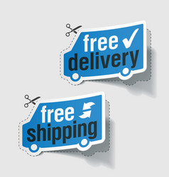 Free delivery shipping vector