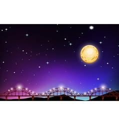 Fullmoon night over the bridge vector