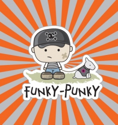 funky-punkie vector image
