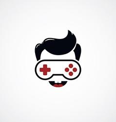 Game freak video game joystick logotype vector