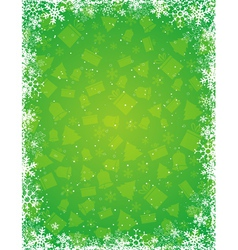 geen grunge christmas background vector image