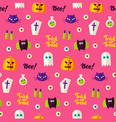 halloween boo seamless pattern vector image