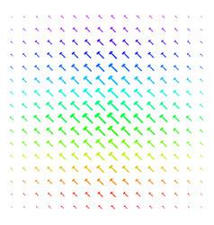 Hammer icon halftone spectral grid vector
