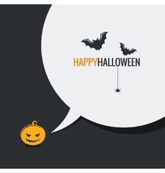 Happy halloween social media design background vector image