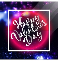 Happy Valentines Day Lettering Postcard Flyer vector