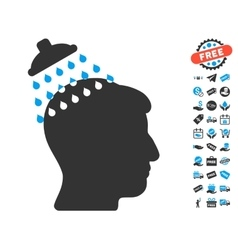 Head Shower Icon With Free Bonus vector image